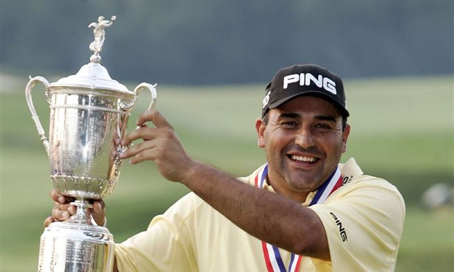 Angel Cabrera US Open trophy