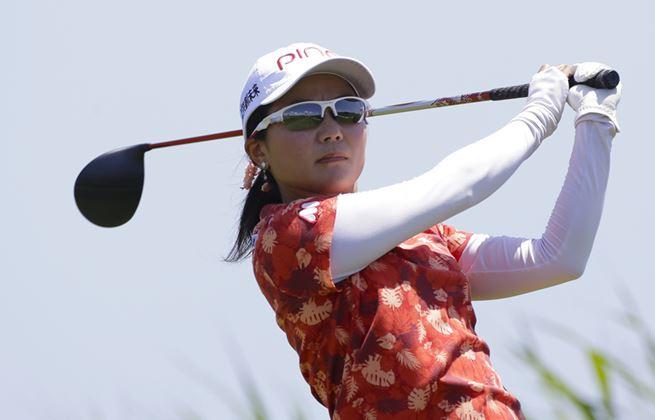 action shot of Ayako Uehara