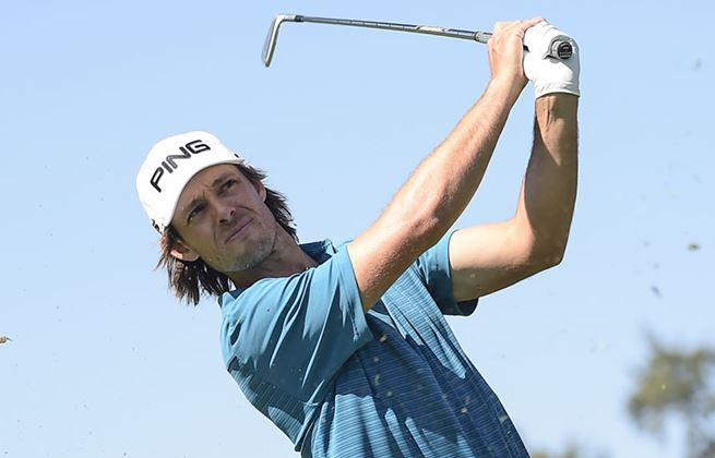 action shot of Aaron Baddeley
